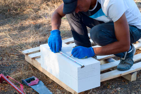 aligning: construction measures a necessary part of the aerated concrete block