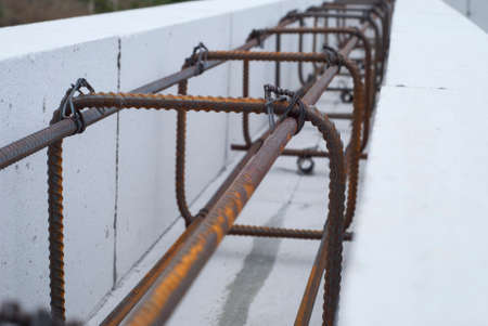aerated: reinforcing cage is inside of aerated concrete formwork