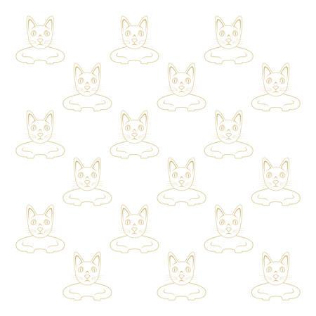 carnivores: vector image - cat wallpaper Illustration