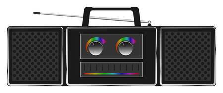 equipo de sonido: vector de imagen - estéreo de radio robot
