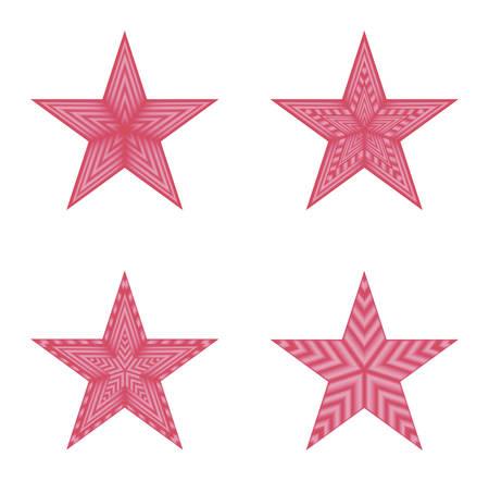 estrellas cinco puntas: imagen del vector - rojo cuatro estrellas de cinco puntas