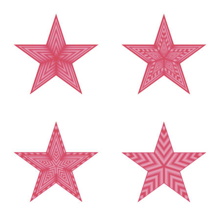 estrellas cinco puntas: vector image - four red five-pointed stars