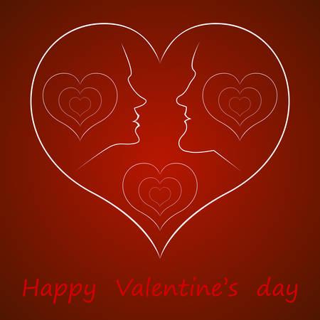 innamorati che si baciano: vettore a San Valentino Vettoriali
