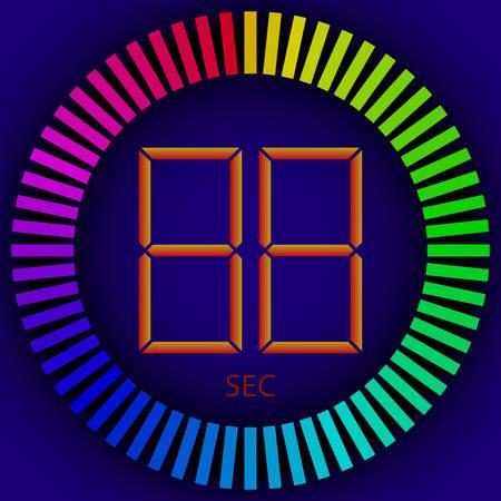 timer: vector image - digital timer Illustration