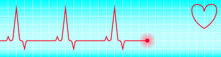 heart ecg trace: vector image - the graph of heart pulse