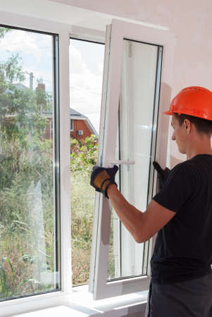 installer: male construction sets of metal and plastic window