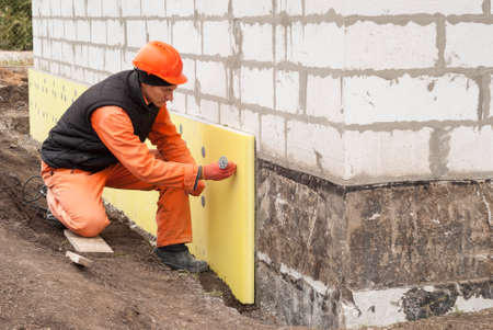 thermal insulation: thermal insulation of the foundation slabs of extruded polystyrene
