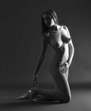 naked woman breasts: Nude of a woman