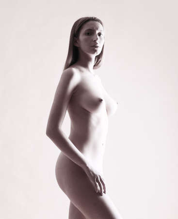 naked statue: Nice profile of naked woman Stock Photo