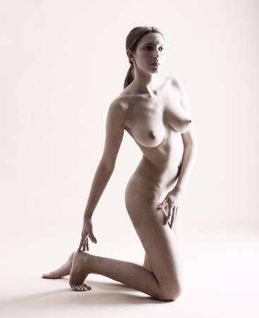 Portrait of a naked woman photo