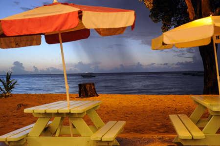 umbrellas on the beach photo