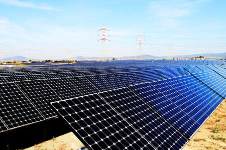 photovoltaic power station: panels of solar plant