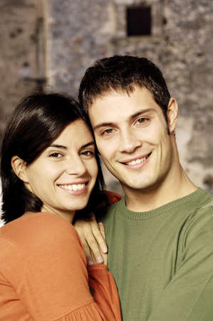 portrait of a young couple smiling