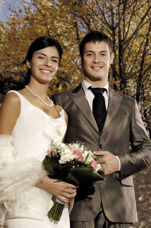 young couple getting married Standard-Bild