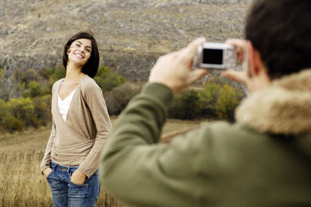 taking picture of a woman