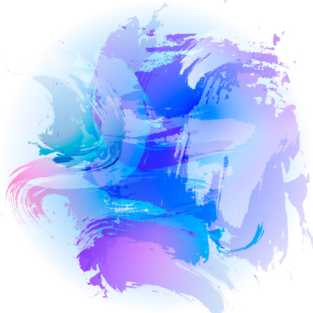 simulation: Simulation vector watercolor. Abstract blue background