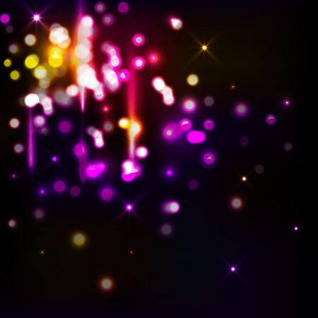Disco lights. Vector background. Shining bokeh vector illustration.