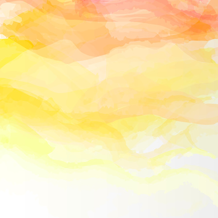 Abstract watercolor background. Colourful yellow, orange template illustration