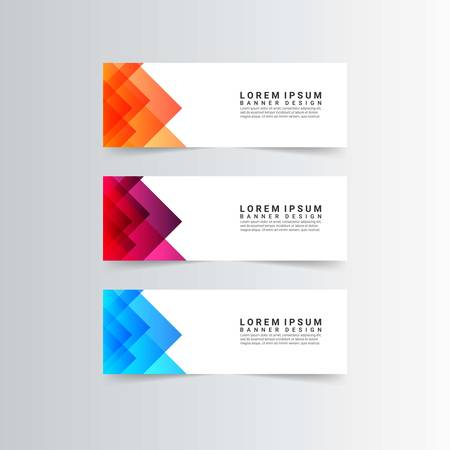modern banners with geometric shapes Иллюстрация
