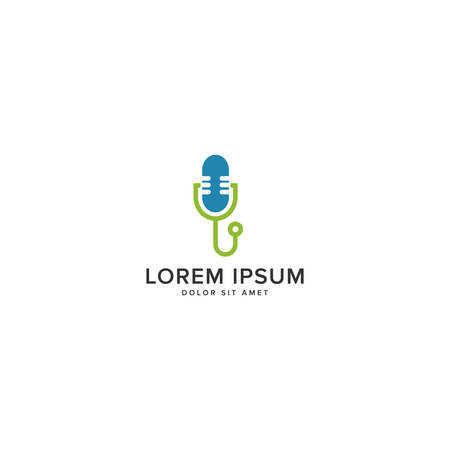 Medical Podcast Logo Иллюстрация