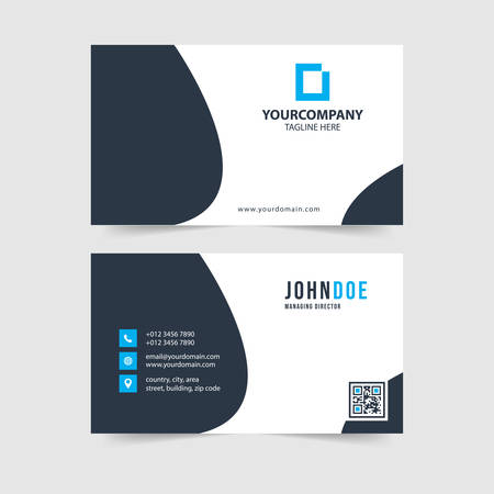 modern simple business card template collection Vettoriali