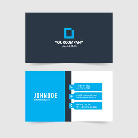 modern simple business card template collection Фото со стока - 128386721