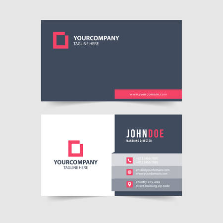 modern simple business card template collection Иллюстрация