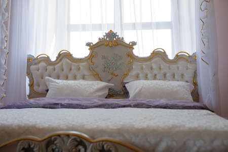 Vintage Interior of a classic style bedroom in luxury house