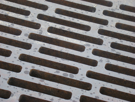 Close up of a man hole cover photo