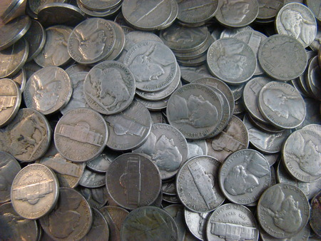 Large Group of old United states nickels photo