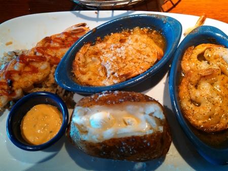 prepared shrimp: Prepared shrimp meal