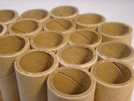 Group of cardboard tubes