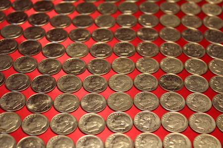 roosevelt: Rows of Roosevelt dimes