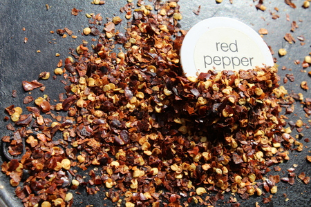 pepper flakes: Chili red pepper Flakes in a heap