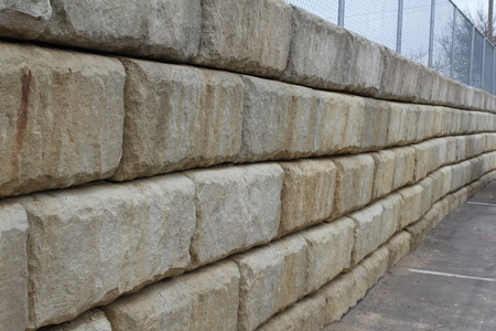 retaining: Large rectangular stone Retaining Wall Stock Photo