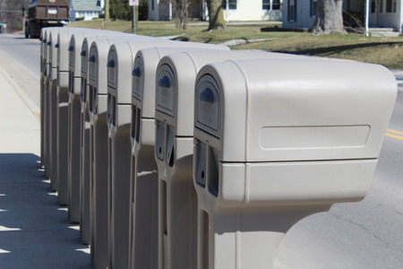 u s  flag: Identical mailboxes in a row