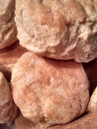 Fresh batch of home made whole wheat buttermilk biscuits.