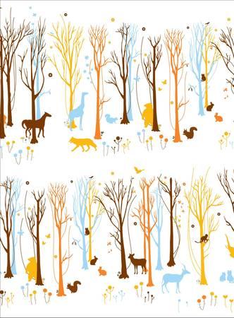 Forest Graphic illus Illustration