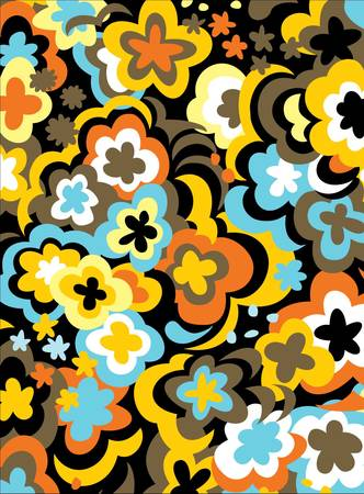 Jumbo Colorful Bold Flower