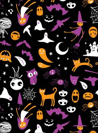 Halloween animals graphic.