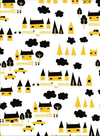 Cute Graphic house graphic illus