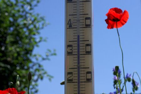 High temperatures are reached in the summer