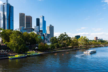 The scenery of the Yara river near the prince bridge of Melbourne