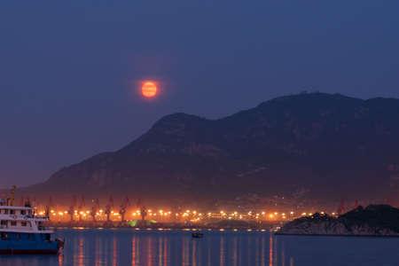 Seaport moonlight
