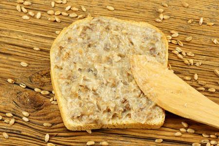 lard: Sandwich with lard Stock Photo
