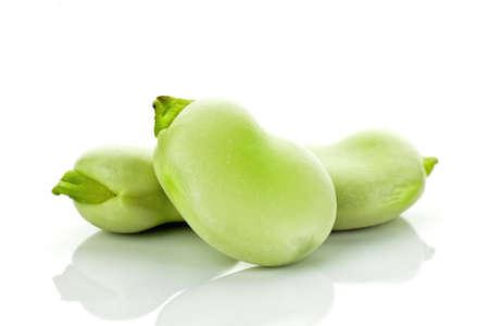 Juicy broad bean Stock Photo