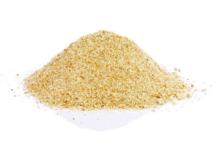 breading: Breadcrumbs on white background