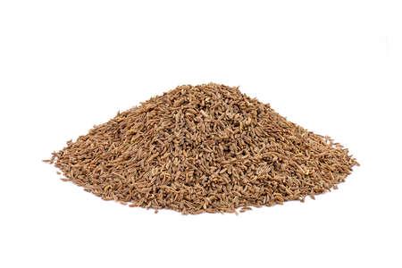 cumin: Cumin seeds on a white background