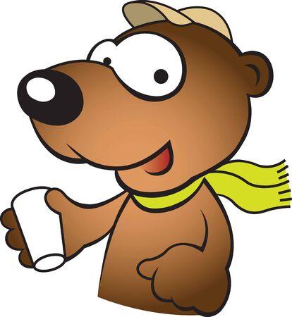 Bear drink Ilustração