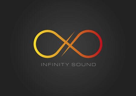 infinito simbolo: Infinity nero suono Vettoriali
